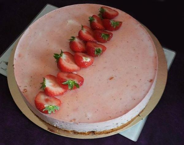Bavarois fraise-menthe poivree 20160508