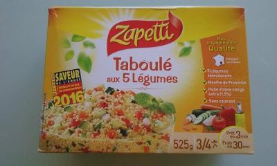 Taboulé aux 5 legumes (Zapetti)