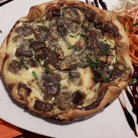 Quiche aubergines fromage