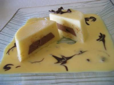 Bavarois citron chocolat creme anglaise  citronne