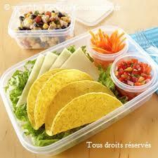 bento mexicain tacos