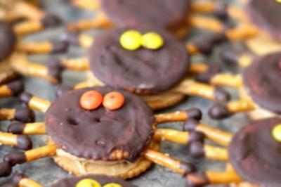 Biscuits araignée au chocolat