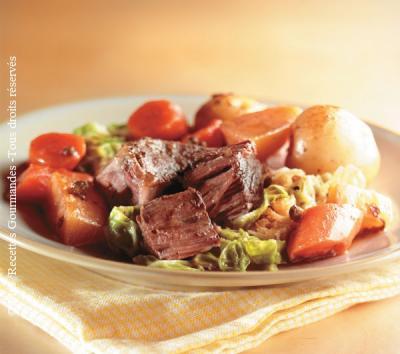 boeuf braise au poivre vert et au vin rouge