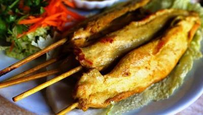 Brochettes de poulet a la thai