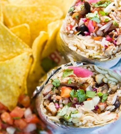 Burrito aux haricots noir et poulet 2017