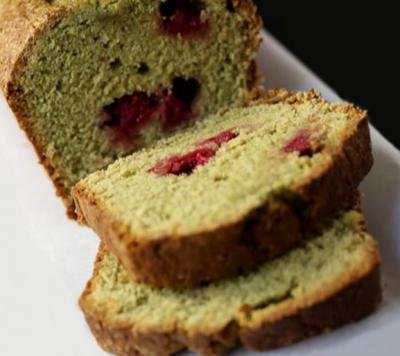 Cake matcha framboises20150528