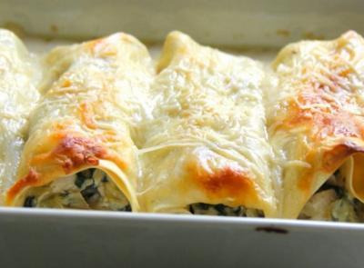 Cannellonis au saumon et aux epinards2004