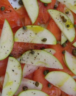 Carpaccio de saumon a la pomme20133011