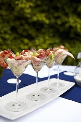 Ceviche de poisson et homard a la sauce marie rose