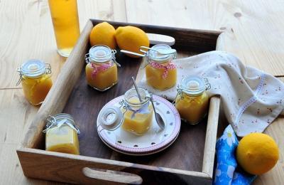 Creme au citron avec sucre vanille