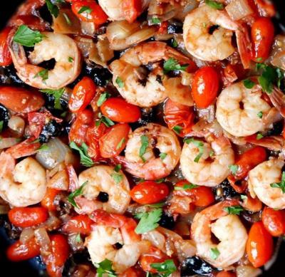 Crevettes Puttanesca20150617