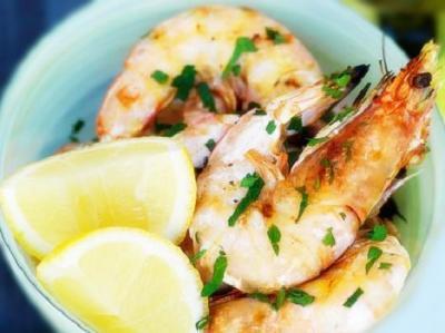 Crevettes au gingembre et au citron