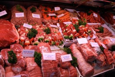 Découpe et présentation de la viande
