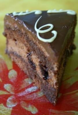 Delice griotte et chocolat