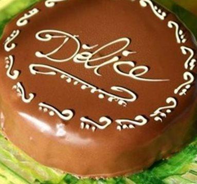 Delice griotte et chocolat gateau