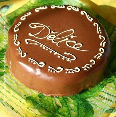 Gateau délice griotte et chocolat