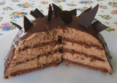 Dome au chocolat