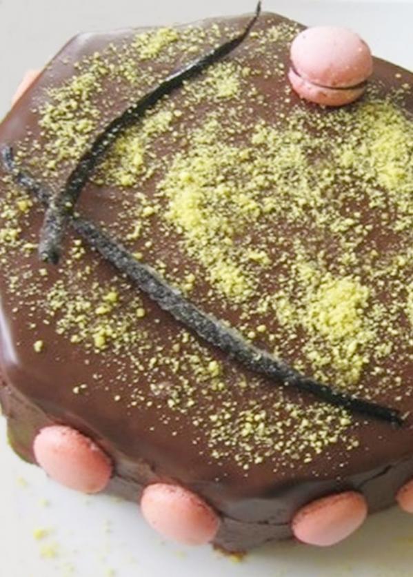 Entremet chocolat vanille