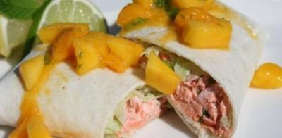 Fajitas de saumon sauce salsa et mangue20080829