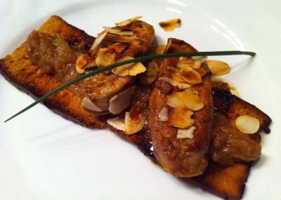 Foie gras poêlé au pain d'épices