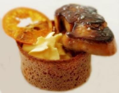 Foie gras creme a l orange et cointreau