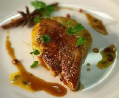 Foie gras sauce fruits de la passion