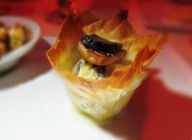 Foie gras aux pommes fondantes