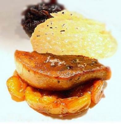Foie gras poele aux peches