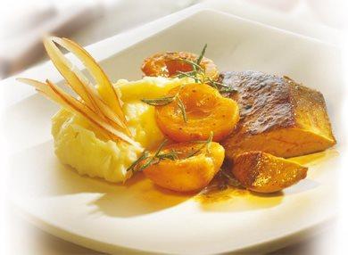 Foie gras poele et abricots
