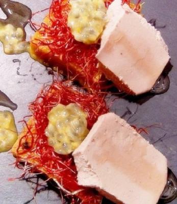 Foie Gras et Patate Douce au Miel de Truffe