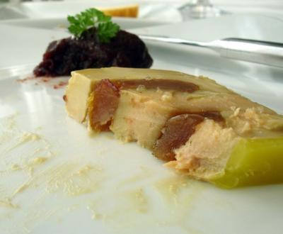 Foies gras au chutney de poire