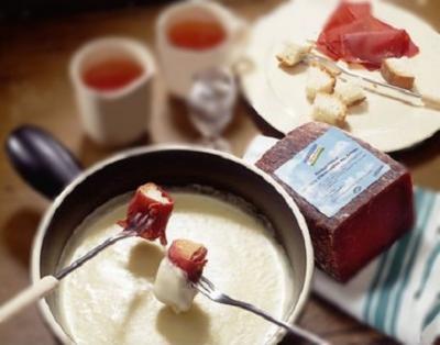 Fondue au fromage des grisons