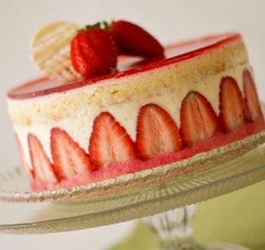 Le fraisier à la crème mousseline