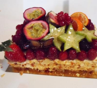 Génoise aux fruits