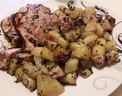 Gigot d agneau avec ses pommes de terre fondantes