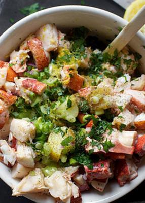 Homard et de pommes de terre salade20150325