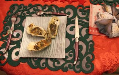 Huîtres  gratinées aux champignons des bois et champagne20141225