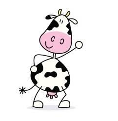 la vache frapéee