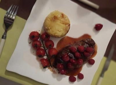 Magret de canard sauce framboise