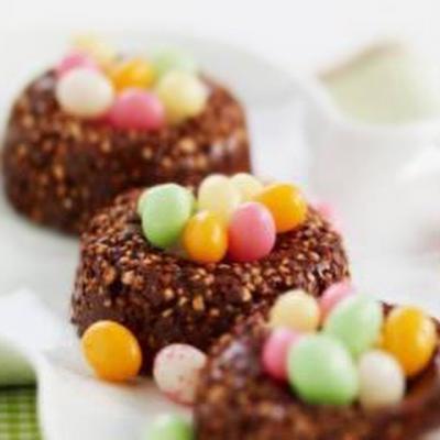 Nids au chocolat croustillants,oeufs en sucre20120407