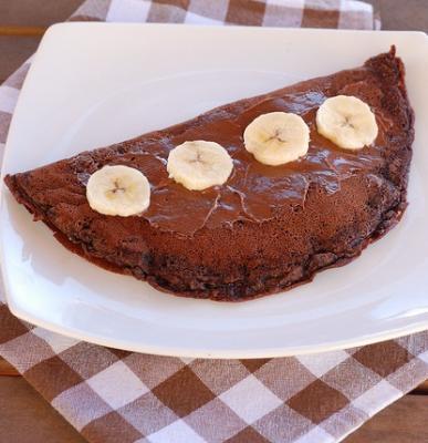 Omelette au chocolat par mam zelle emma2012