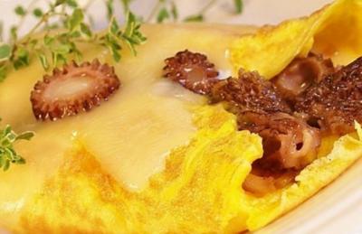 Omelette  sauce aux morilles2013