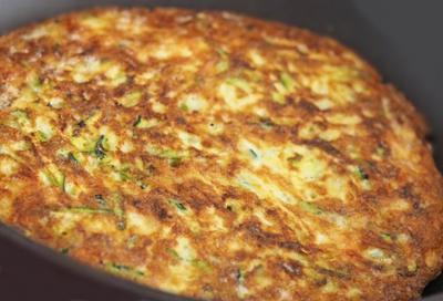 Omelette de courgette20160705