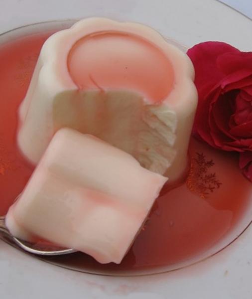 Panna cotta a la rose20110610
