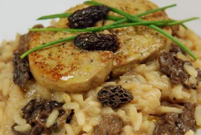 Risotto aux morilles et poêles de foie gras20072512