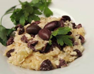 Risotto aux olives noires et parmesan20160825