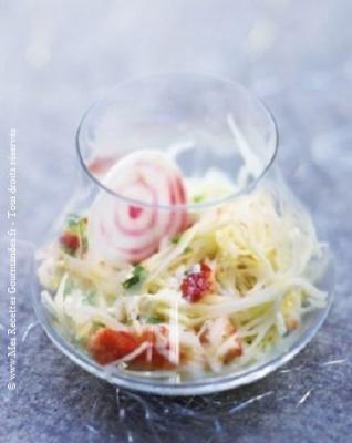 salade de chou au crabe sauce wasabi