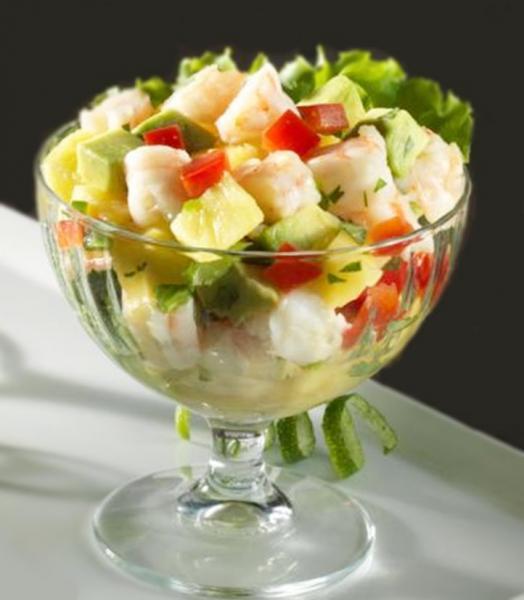 Salade de crevettes ananas avocat20151906