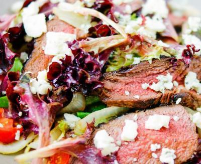 Salade de bavettes de bœuf  et fromage bleu20150524