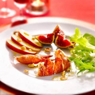 Salade de homard aux figues,pommes